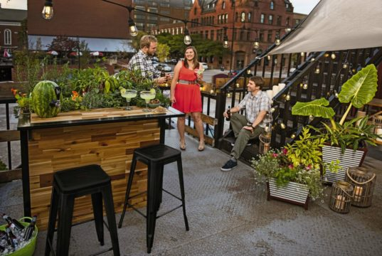 Plant A Bar An Outdoor Bar Made With Reclaimed Wood That