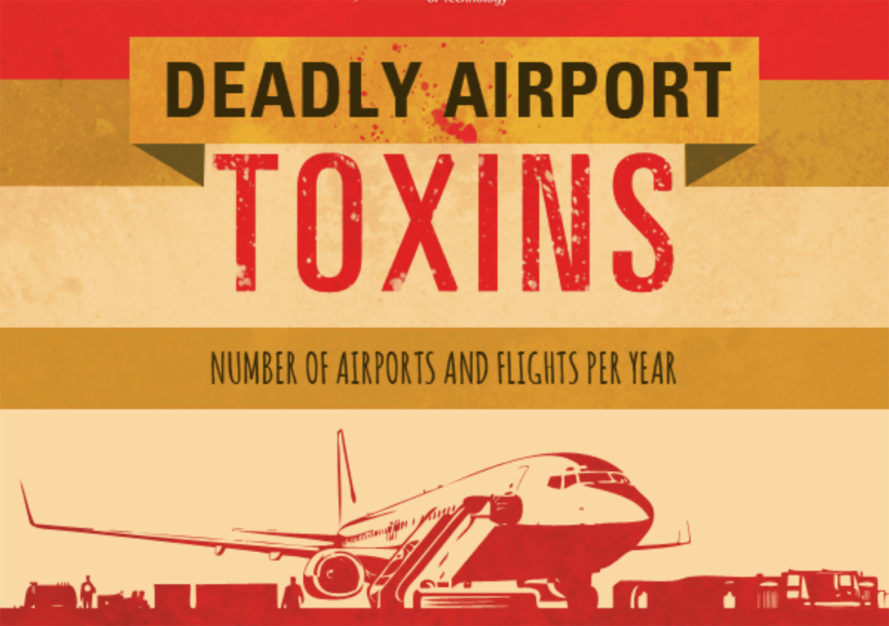 deadly airport toxins, deadly toxins, airport toxins, airplane toxins, living near airports, environmental toxins, environmental pollution, airplane pollution, infographic, reader submission