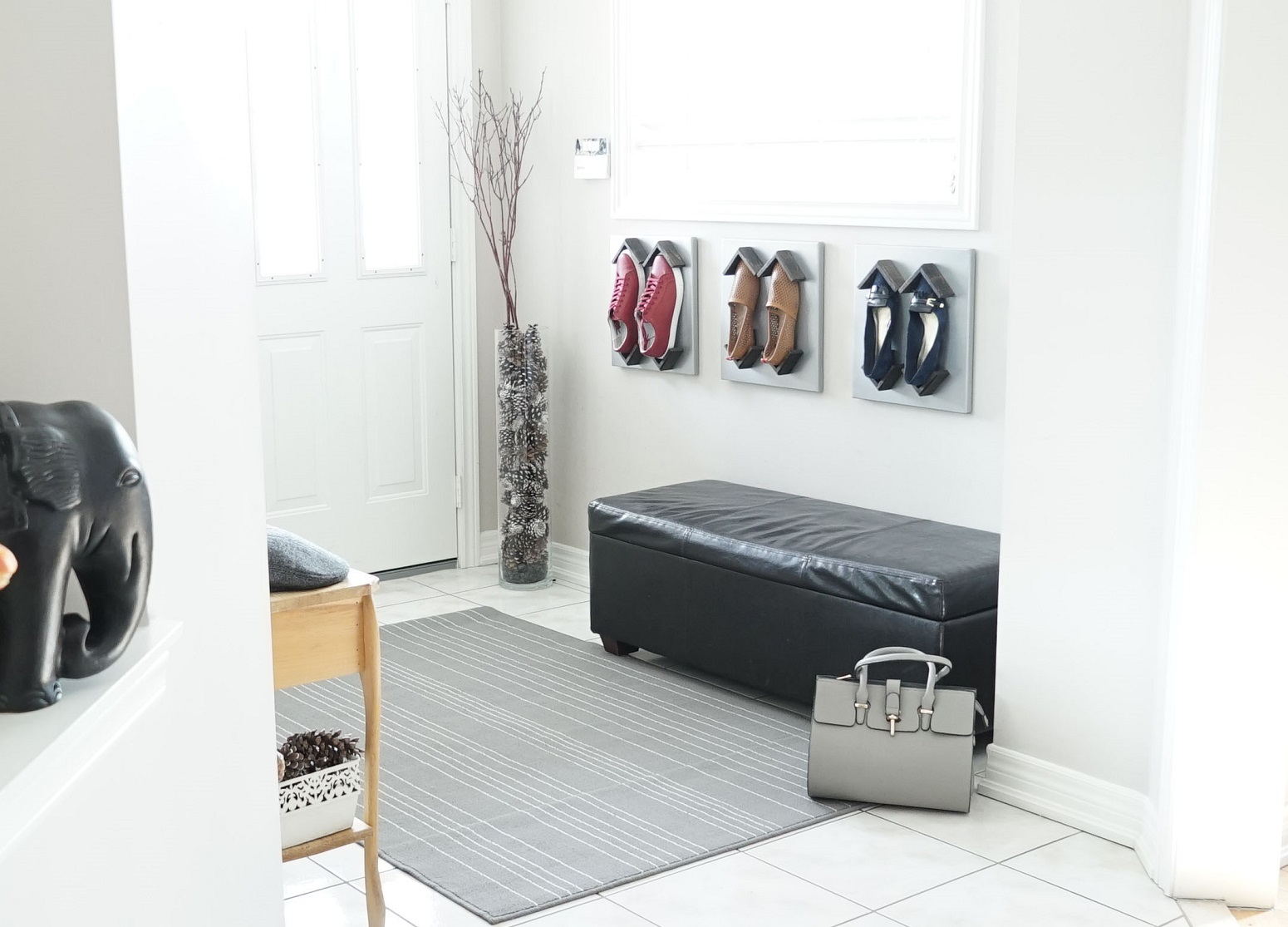 Shoeblox is a modern shoe storage remedy for small spaces