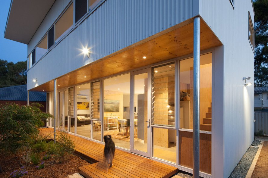 Erpingham House, prototype house, affordable housing, lightweight structure, MSG Architecture, passive solar design, passive house, green architecture, greywater reuse, solar power