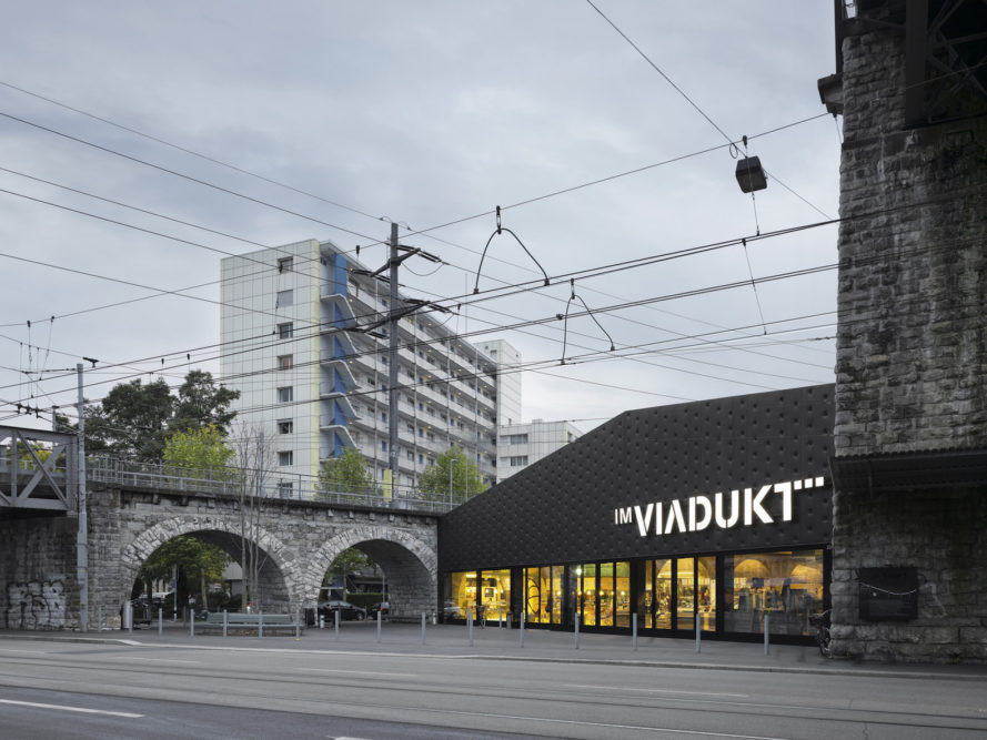 Zulauf Seippel Schweingruber Landscape Architects. EM2N, adaptive reuse of viaduct arches, IM VIADUKT, IM VIADUKT in Zurich, IM VIADUKT by EM2N