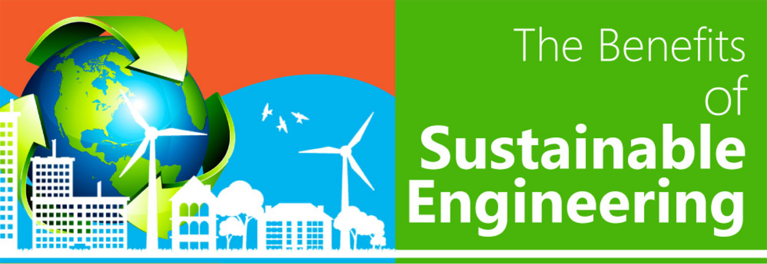 Infographic the benefits of sustainable engineering for Leed benefits