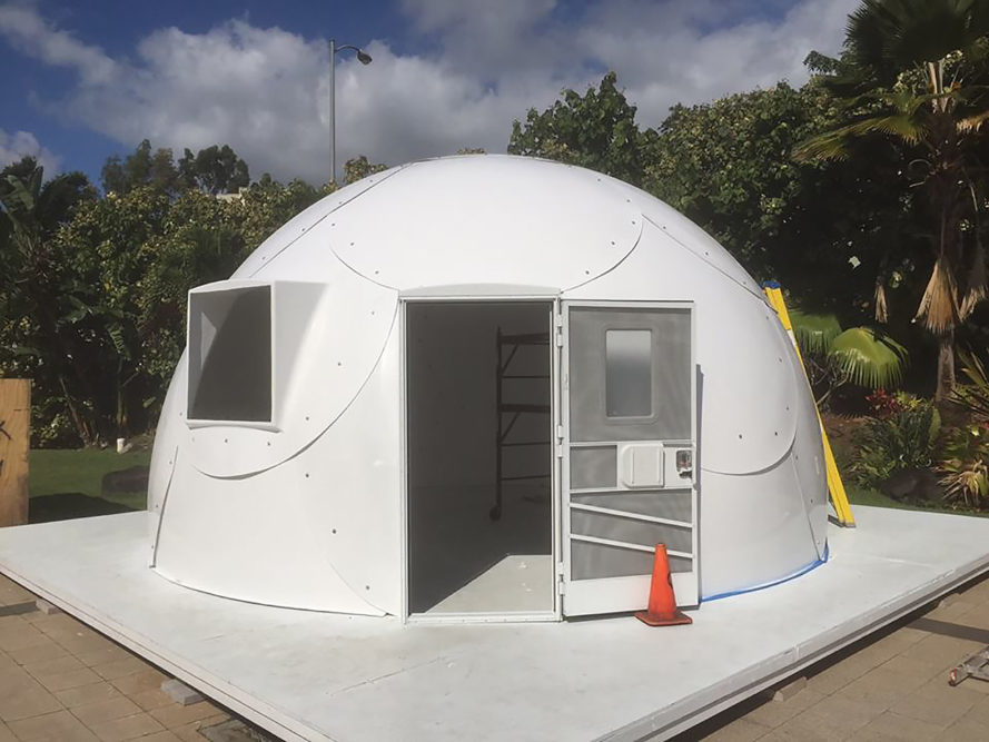 Hawaii, homeless, homelessness, InterShelter, InterShelter dome, dome shelter, fight homelessness, church, faith community, First Assembly of God, igloos