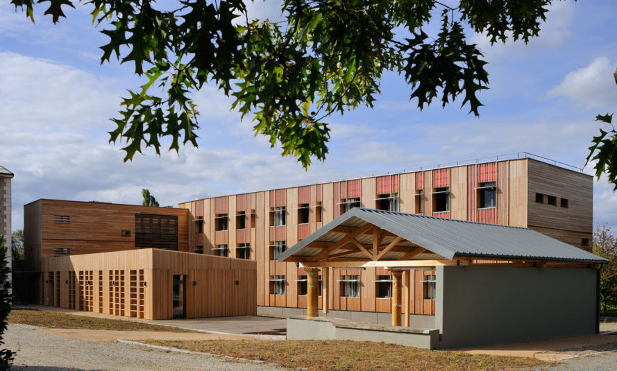 LEGTA school campus, Room with a View boarding house, Rue Royale Architectes, green campus, France, agriculture, green renovation, green architecture, wooden facade, wood architecture, student housing