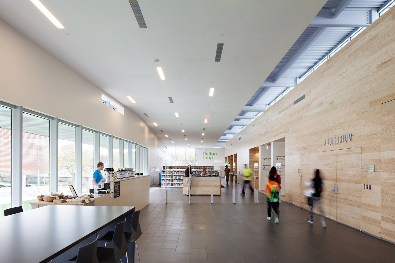 Sleek Green Lawrence Public Library Is A Welcoming Haven