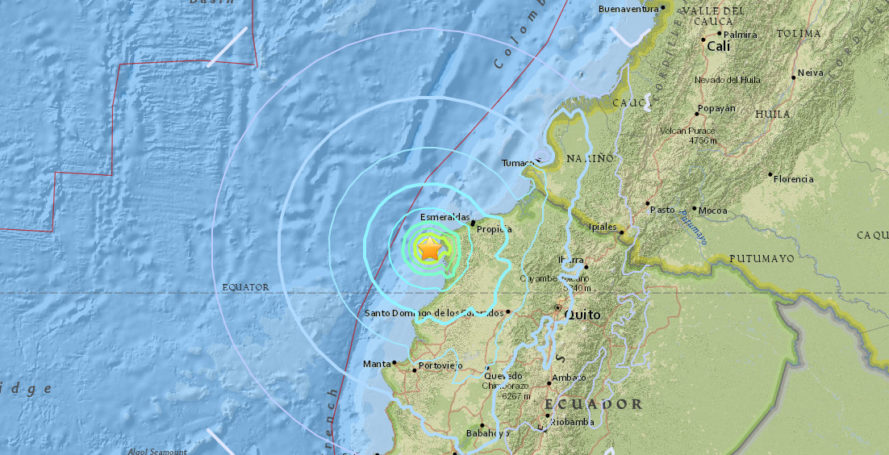 ecuador, earthquake, aftershock, ecuador death toll, ecuador 7.8 earthquake, ecuador 6.1 aftershock, south america