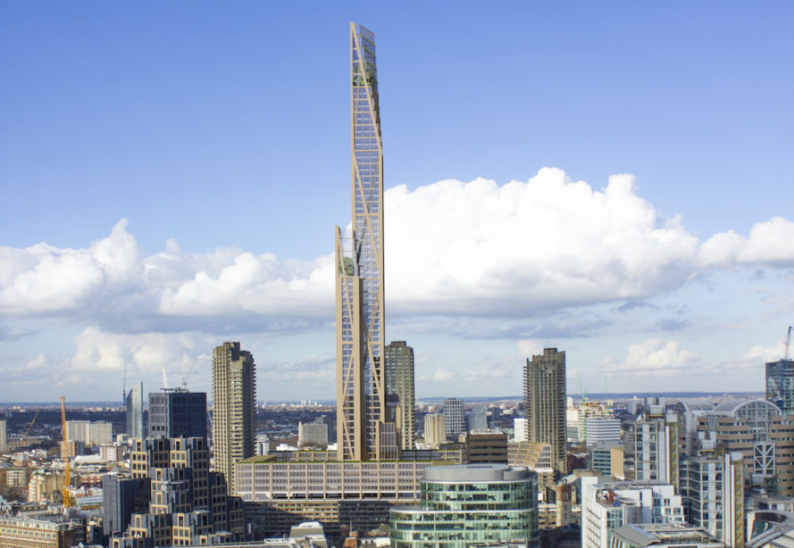 world's tallest timber tower, London timber skyscraper, timber architecture, timber architecture in London, London timber skyscraper by PLP Architecture,