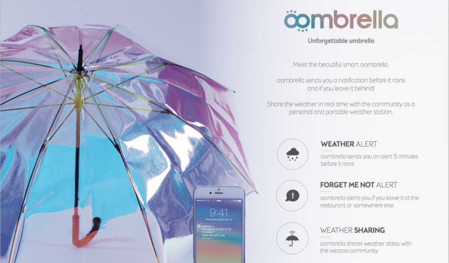 oombrella: a smart umbrella that tells you when it's about ...