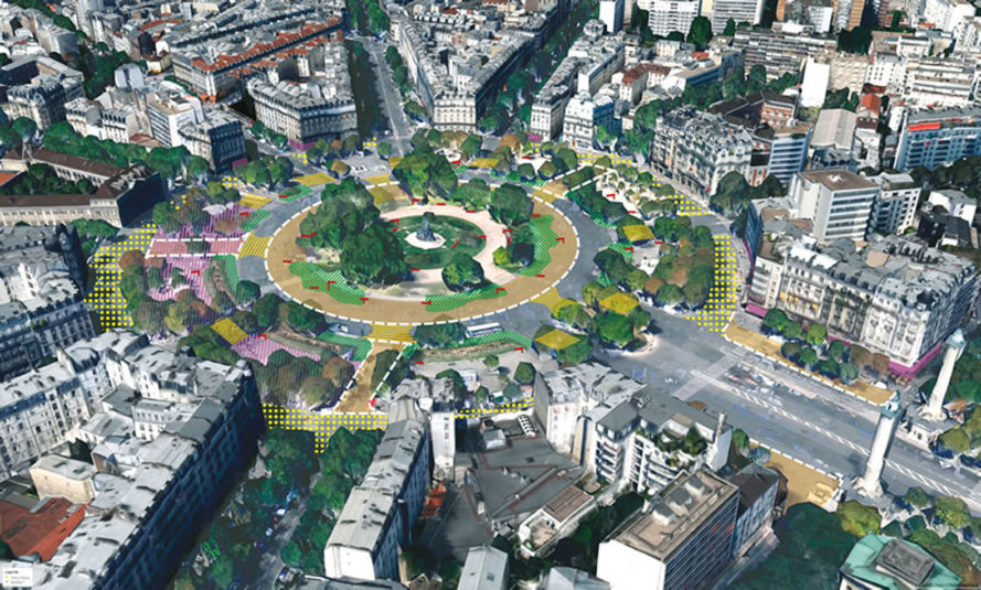 Paris, green infrastructure, green urban design, urban design, pedestrians, cycling, urban parks, green spaces, public spaces, green travel