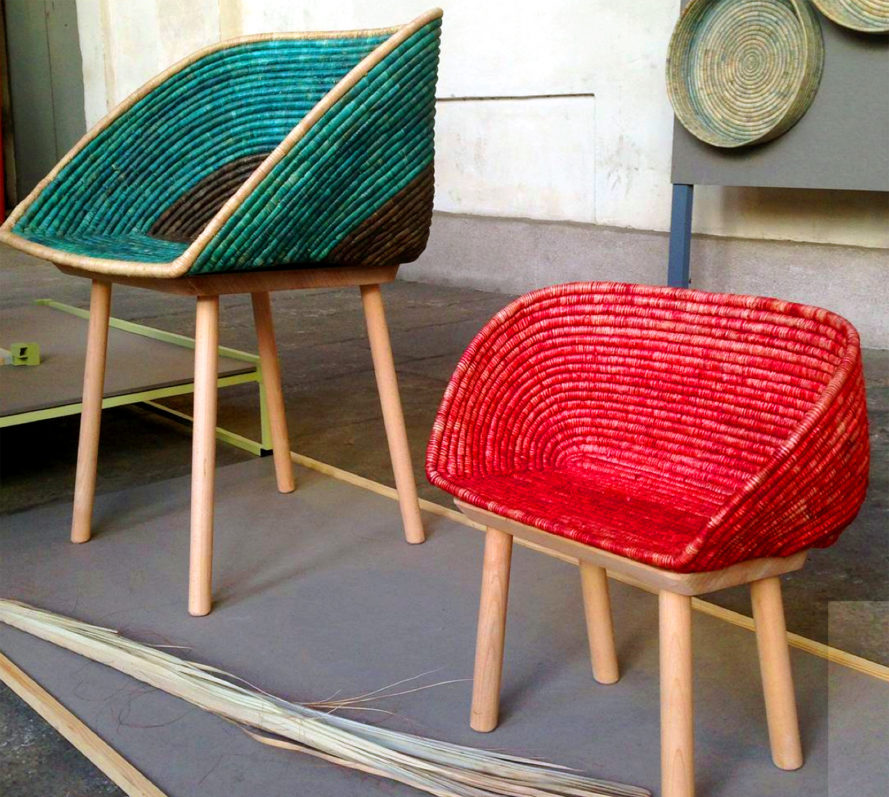 Palm Leaf Chairs, People of the Sun, Hettler Tullman, sustainable materials, chairs, green chairs, sustainable chairs, green furniture, sustainable furniture, green design, sustainable design, milan design week, milan furniture fair, green interior