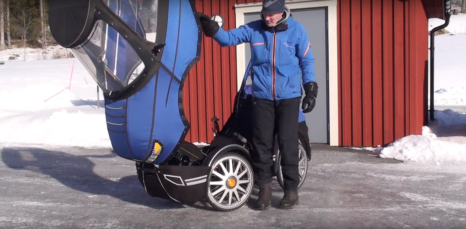 Innovative Swedish Cyclist Designed An All Weather Bike That Looks