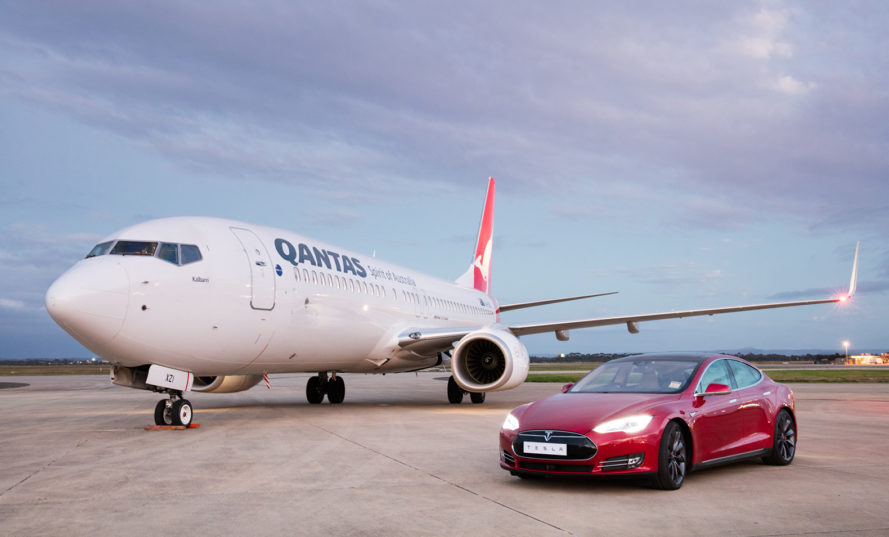 Tesla, Elon Musk, Qantas, electric car, electric vehicle, biofuel, aviation biofuel
