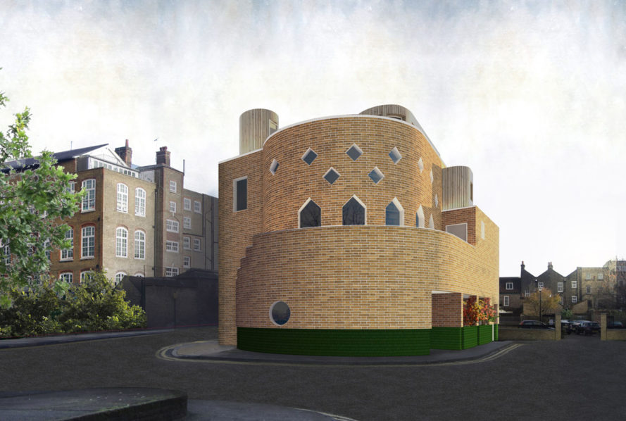 Queen Adelaide, Sam Jacob Studio, FAT Architects, postmodernism, London, curved walls, green architecture, green renovation, nursery