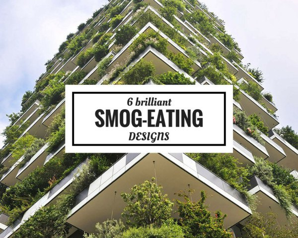 smog sucking design, air purifying urban infrastructure, Bosco Verticale by Stefano Boeri Architects, Smog Free Project by Daan Roosegaarde, smog eating pavement, smog eating roof tiles, smog eating facade, smog fighting billboard