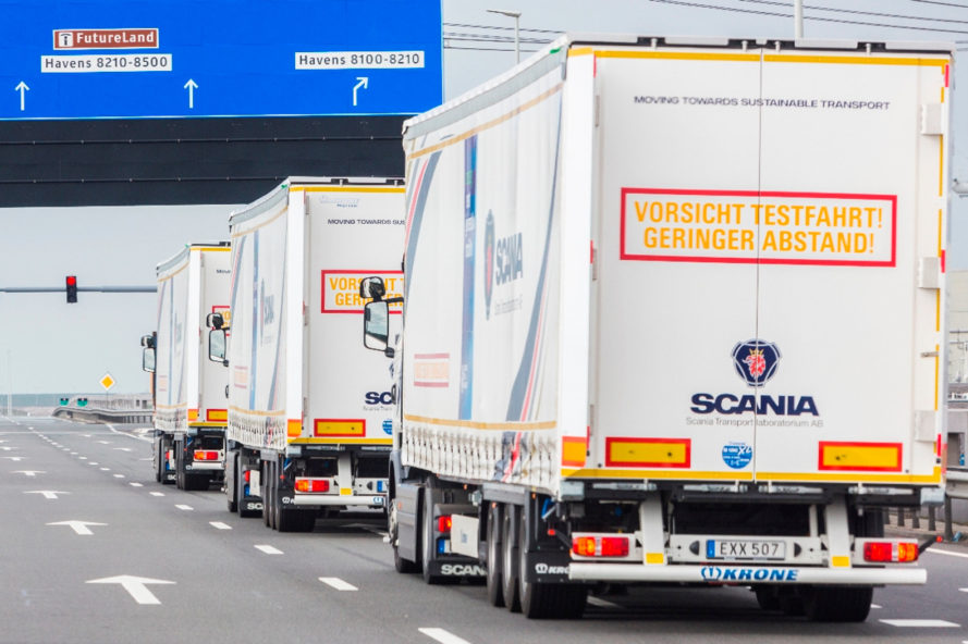 automated vehicles, partly automated vehicles, automated trucking, truck platooning, netherlands, sweden, denmark, germany, belgium