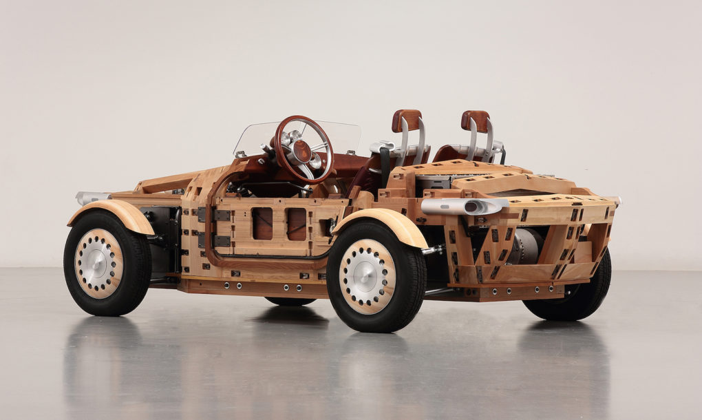 Toyota S Gorgeous Setsuna Car Is Made From 86 Handcrafted Wooden Panels Inhabitat Green