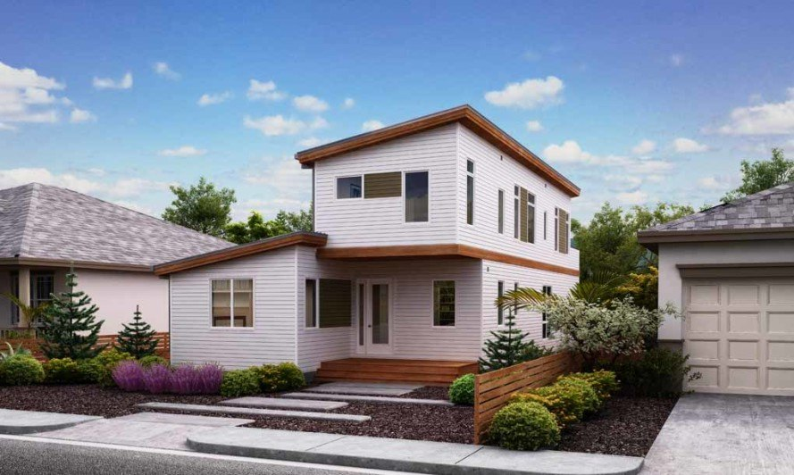 "Blu Homes' net zero energy prefab ""Solaire"" house"