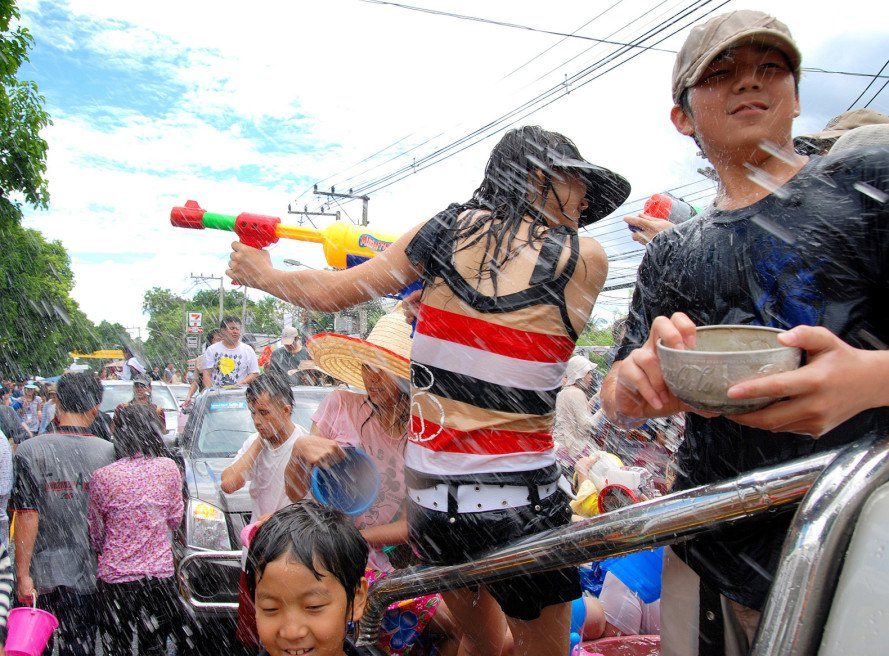 Songkran, Thailand, water fight, world's largest water fight, water, drought