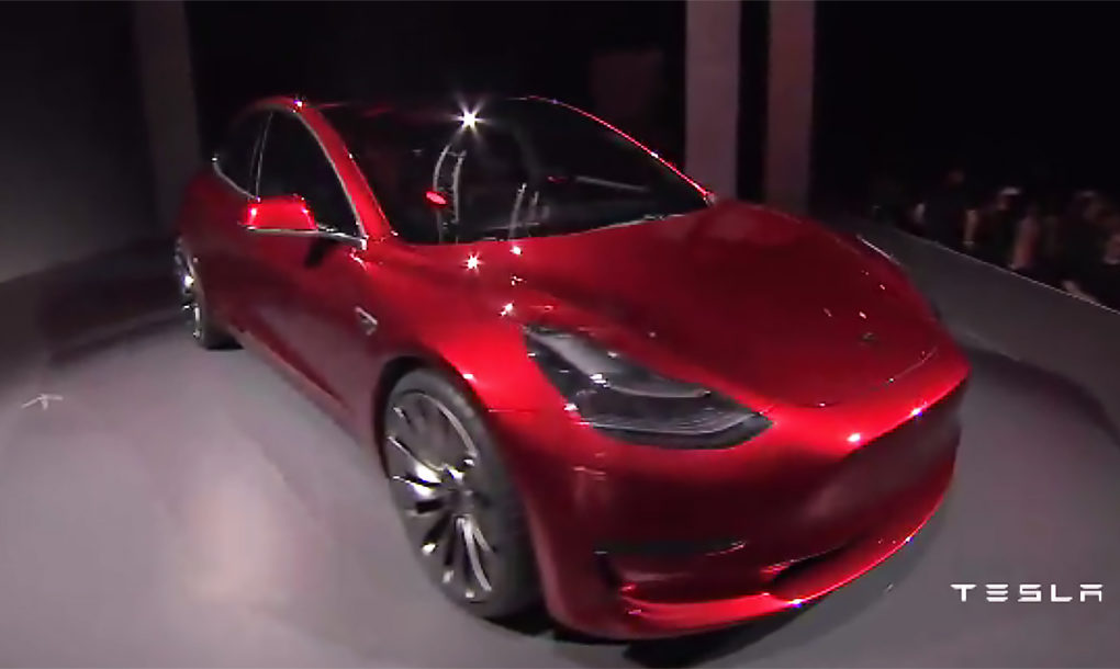 Tesla unveils 35K Model 3 electric car for the masses with ...