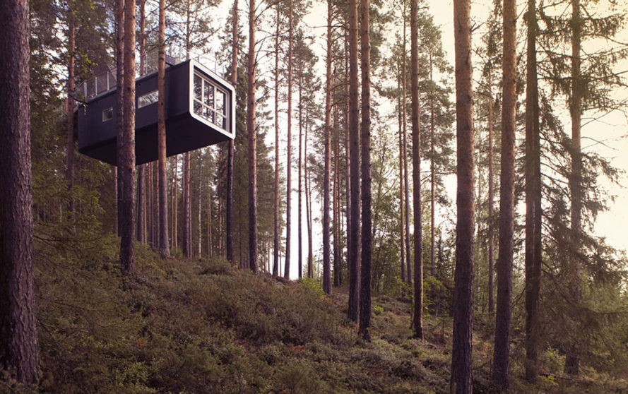 Treehotel, treehouses, Sweden, Mirrorcube, Harads treehotel, Bird's Nest, UFO treehouse, green architecture, small spaces, eco-travel