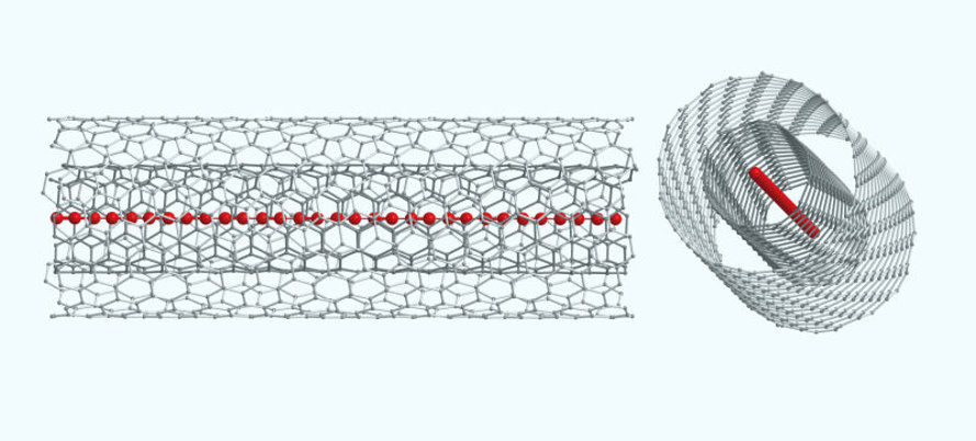 carbyne, carbon, graphene, carbon nanotubes, strongest material on earth, strongest material, strongest substance, University of Vienna