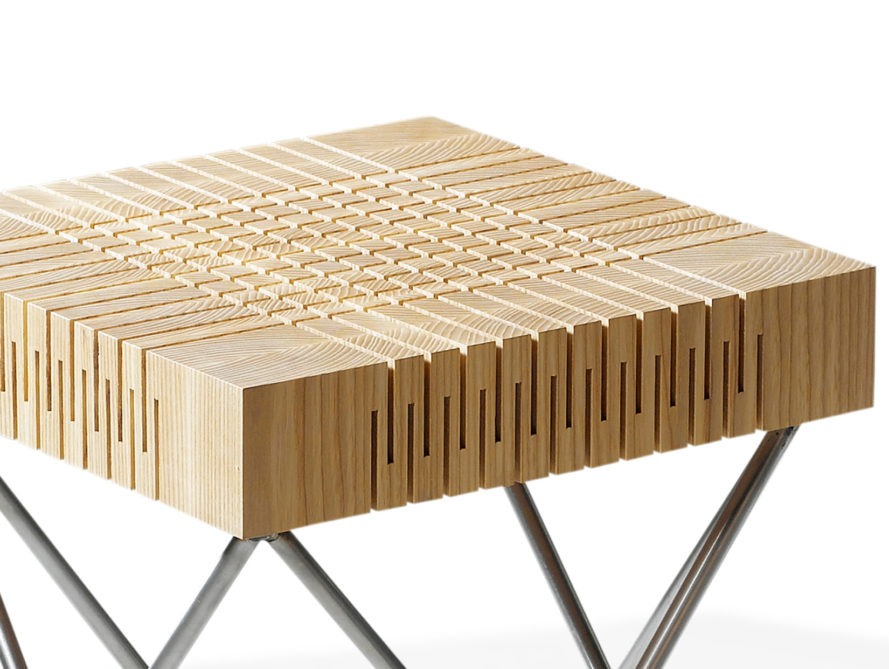 Dutch Designer Turns Solid Wood Into A Curiously Bouncy Seat