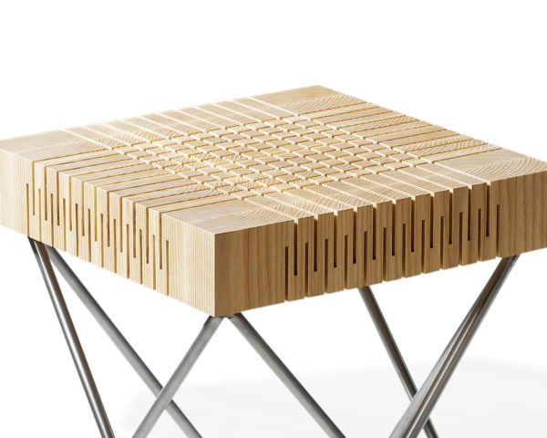 dutch design, Milan Design Week, fuorisalone, Carolien Laro, stool, wood, wood design, chair, cnc cut, cnc cut wood,