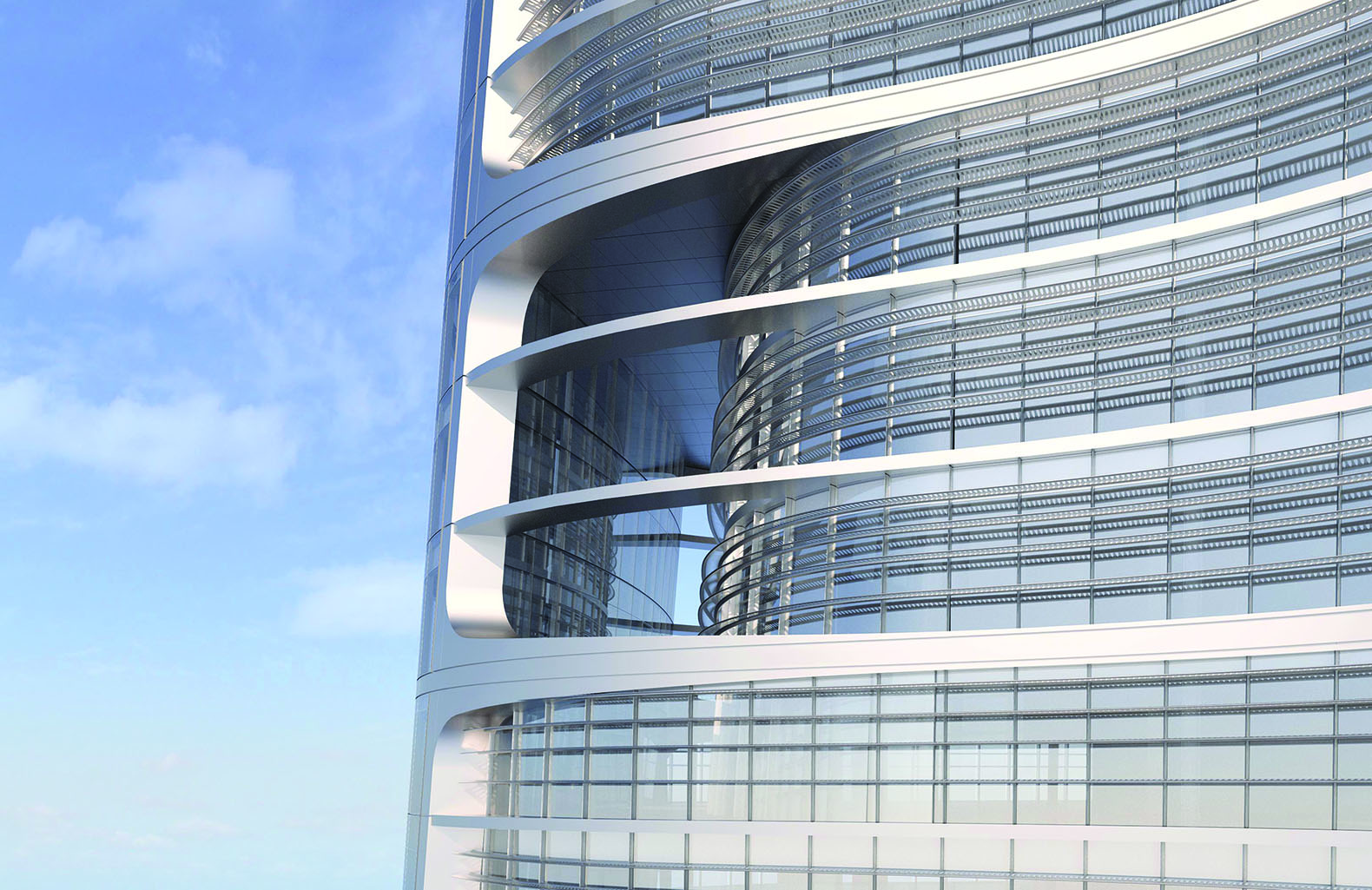 Eco friendly megatall wuhan greenland skyscraper is under for Is architecture