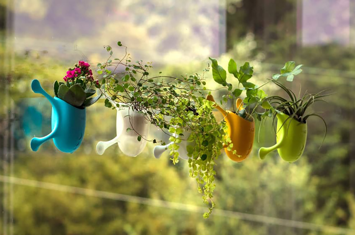 Playful Livi plant holders let you create a vertical garden right on ...