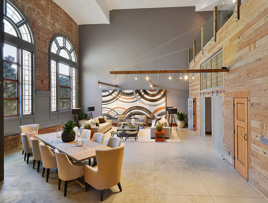 Historic san francisco church creatively reborn as loft - Living room definition architecture ...