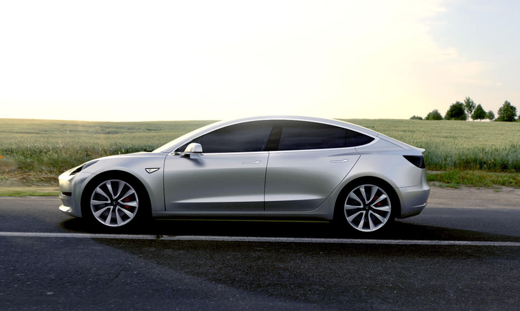Tesla Unveils 35k Model 3 Electric Car For The Mes With 215 Mile Range
