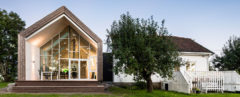 Øvre Tomtegate 7, farmhouse, green extension, Norway, Link Arkitektur, renovated farmstead, gable-roofed, Kebony, sustainable wood, natural light, green renovation, green architecture