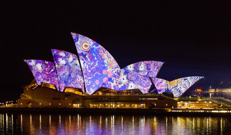 2016 VIVID Festival, VIVID Sydney, light installations, Sydney, light projections, Sidney Opera House, Australia, indigenous people, light design