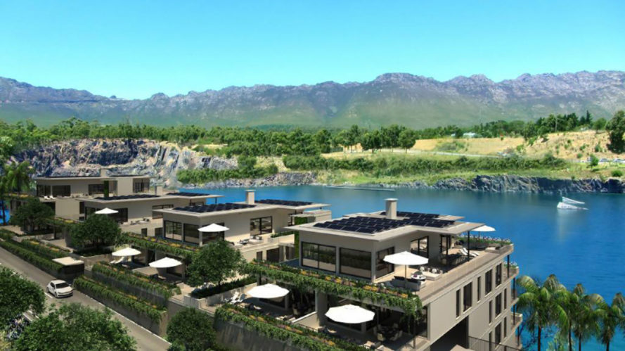 blue rock village, south africa, cape town, green village, luxury development, apartments, sustainable development, car-free living, eco-friendly development