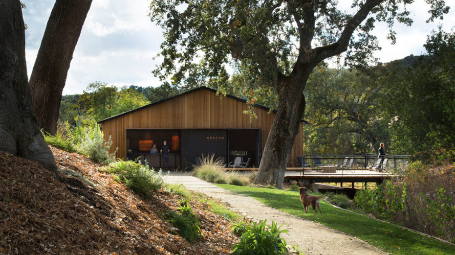 Brecon Estate Winery, green renovation, winery, AIASF Design Award, Aidlin Darling Design, natural materials, rain screens, wine tasting, green architecture, pocketing doors, cedar
