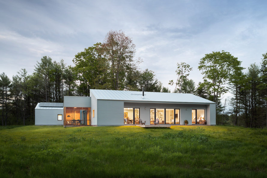 Cousins River Residence by GO Logic, solar powered Maine architecture, contemporary Maine architecture, near net zero architecture, passive house architecture in Maine