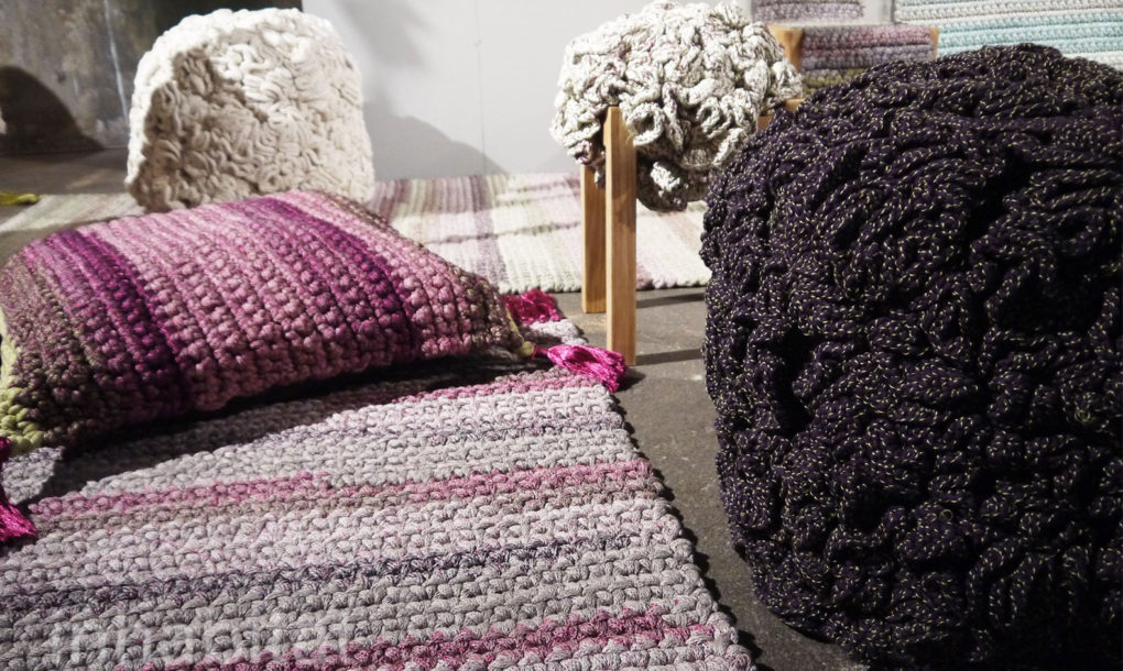 iota women The forward-thinking israeli collection of woven stools, seating cushions, rugs and pillows are crocheted in sections by women in highly unemployed communities.