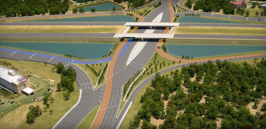 Diverging Diamond Interchange, DDI, highway, road, road design, highway design, design, infrastructure, car crashes