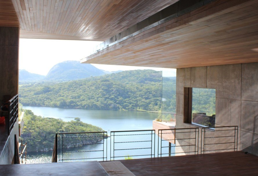 Gota Dam Residence by Sforza Seilern Architects, Gota Dam Residence, East Africa architecture, beautiful Eastern Africa home, home built above reservoir