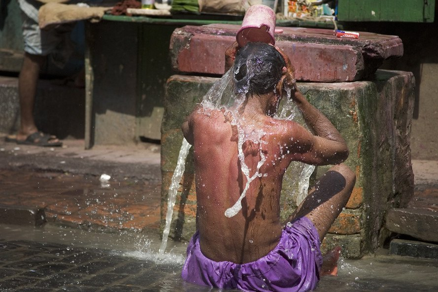 India, heat, hot, heat wave, temperature, new temperature record, weather, climate change, water