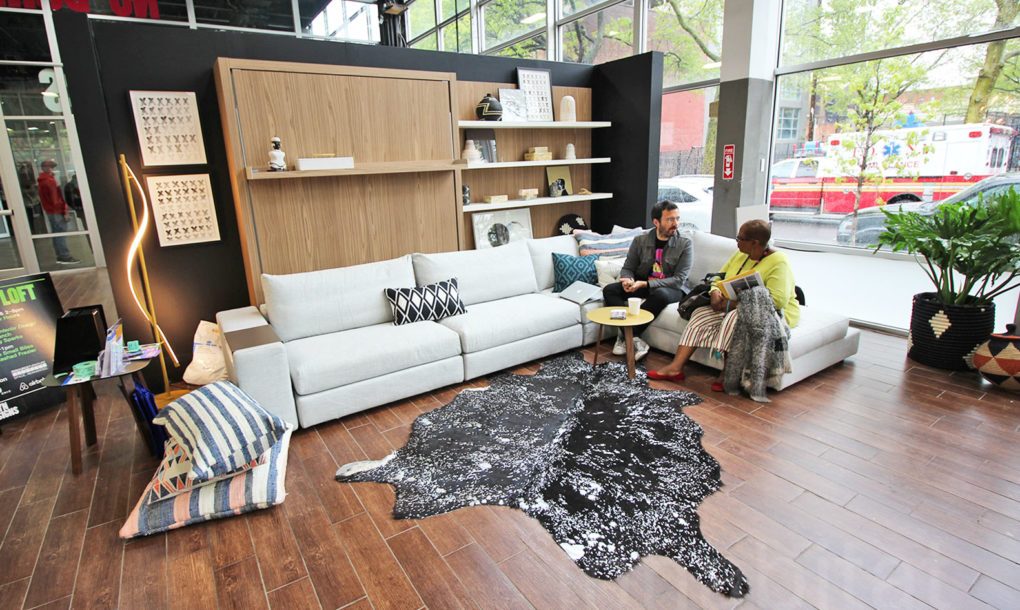 Small Living Room Solutions interactive 500-square-foot 'micro loft' shows off small living