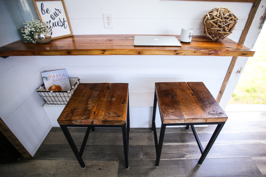 Lamon Luther, Brian Preston, wood, reclaimed wood, furniture, tiny house, tiny home, tiny house giveaway, tiny home giveaway, giveaway, homeless, helping people