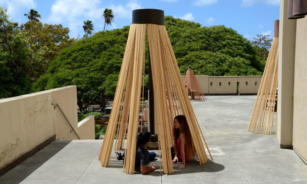 Quot Lamphouse Quot Is A Temporary Teepee Shaped Shelter Made With