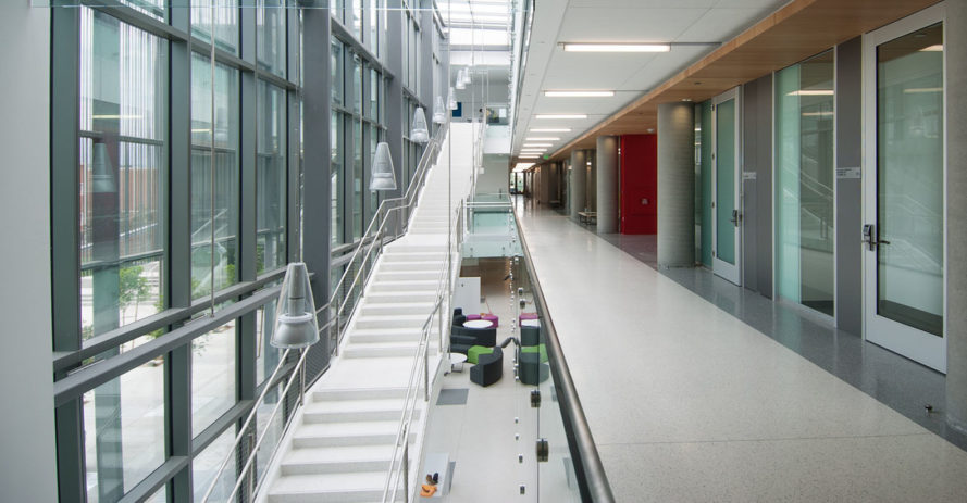 Life Sciences Building at Loyola Marymount University, Los Angeles, LEED Gold, LEED certification, research facility, CO Architects, green roof, solar power, solar panels, green architecture