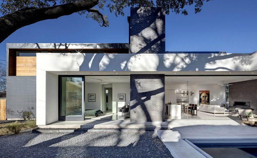 Matt Fajkus Architecture, Main Stay House, affordable house, Austin, energy-efficient house, Texas, open-plan layout, green architecture, affordable housing, natural light, natural materials, cross ventilation