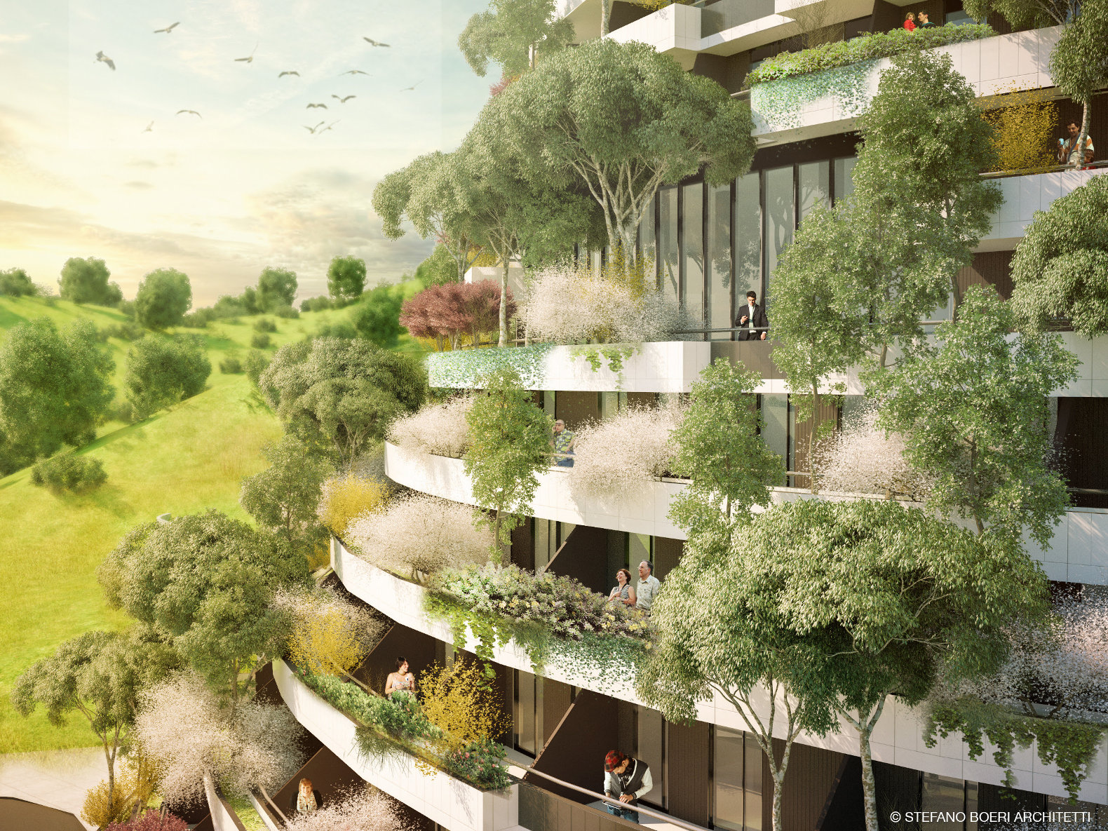 Hotel Simon Vertical Forest Mountain Hotel Will Clean The Air In Guizhou