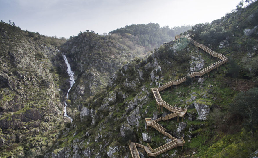 Nelson Garrido, drone photography, Paiva Walkways, nature reserve, Portugal, Trimetrica engineering, Arouca nature reserve, wooden walkways, green architecture, wooden structure