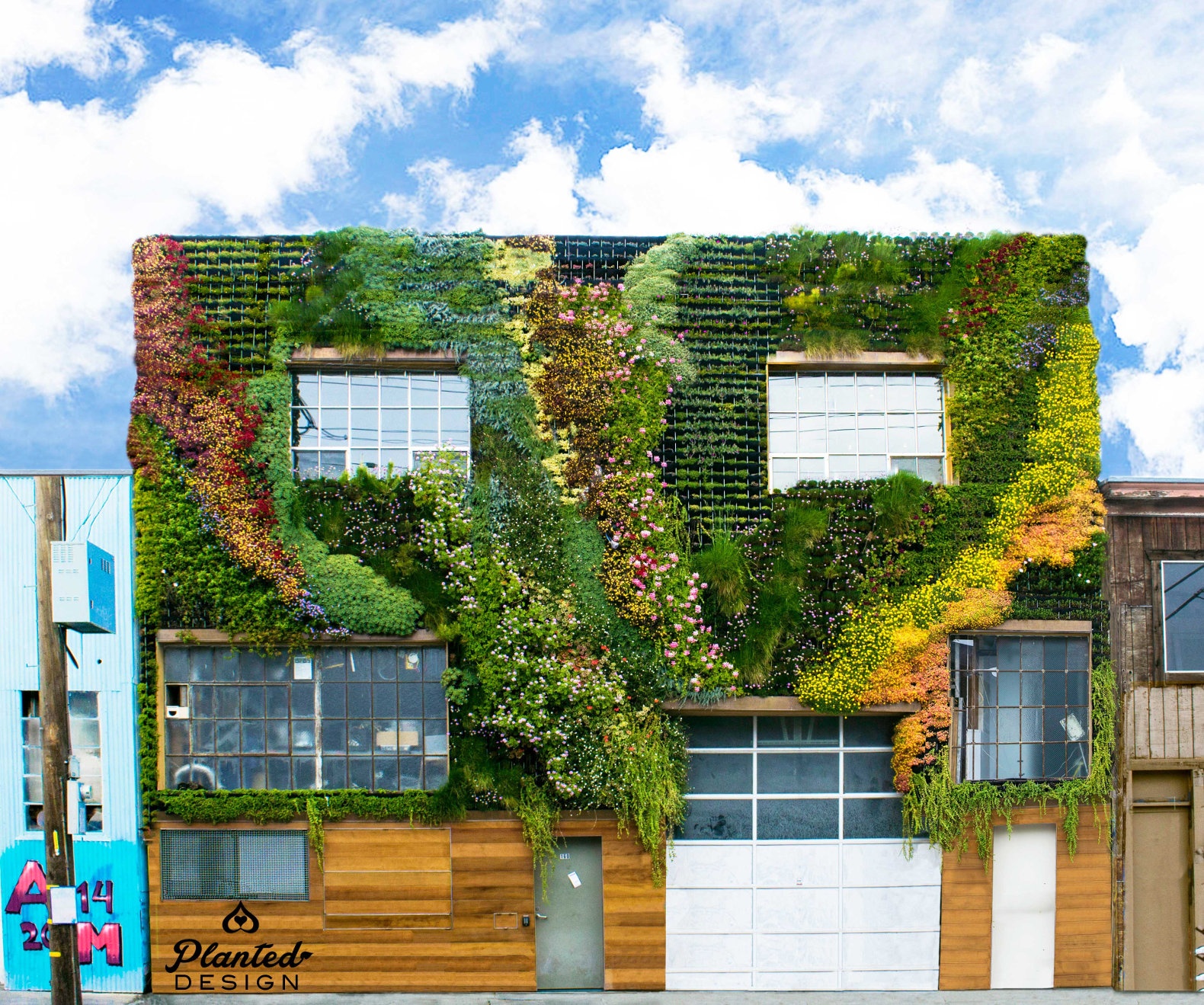 Marvelous Green Building Ideas Part - 13: San Franciscou0027s First Community-built Living Wall Is A Drought-resistant  Masterpiece