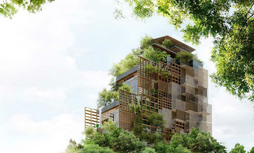 Jean Nouvel, green tower, Sao Paulo, Rosewood Tower, Brazil, Cidade Matarazzo, Allard Group, green architecture, vertical garden, heritage-listed site, patio, green hotel