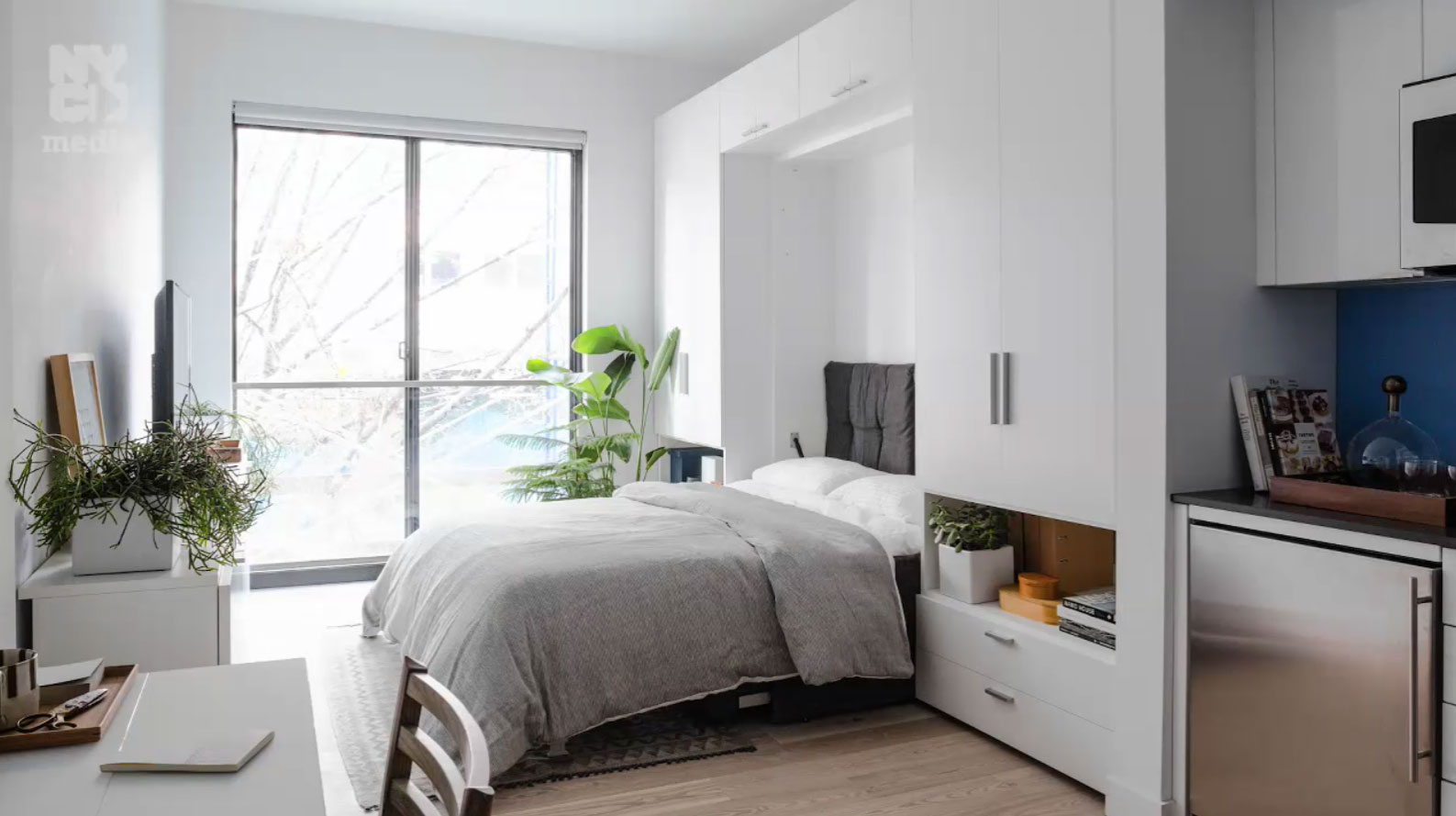 See inside nyc s first micro apartment building transforming furniture for tiny spaces casa - Beds in small spaces collection ...